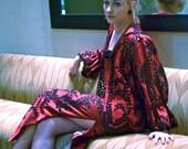 1970s Victor Costa Evening Dress High Vent Maxi Skirt Bettina Blouse Lace Jacket Spanish Flamenco