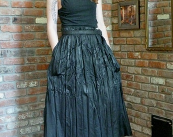 1990s Issey Miyake Convertible Skirt Dress Buckle NEW Pleated Black Goth Avant Garde Japan