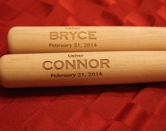 """17"""" Personalized Baseball Bat, Ring Bearer Gift, Custom Engraved, Junior Groomsmen Bat, Ring Bearer Bat, Jr Groomsmen Gift, Engraved Bat"""