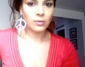Celebrity Peace Earrings - Peace Sign Earrings - Stunning Peace Sign earrings