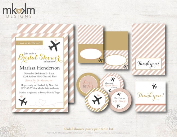 travel bridal shower invitation kit travel shower by mkkmdesigns, Bridal shower invitations