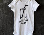 Southern Sweet Tea Mason Jar Baby Onesie