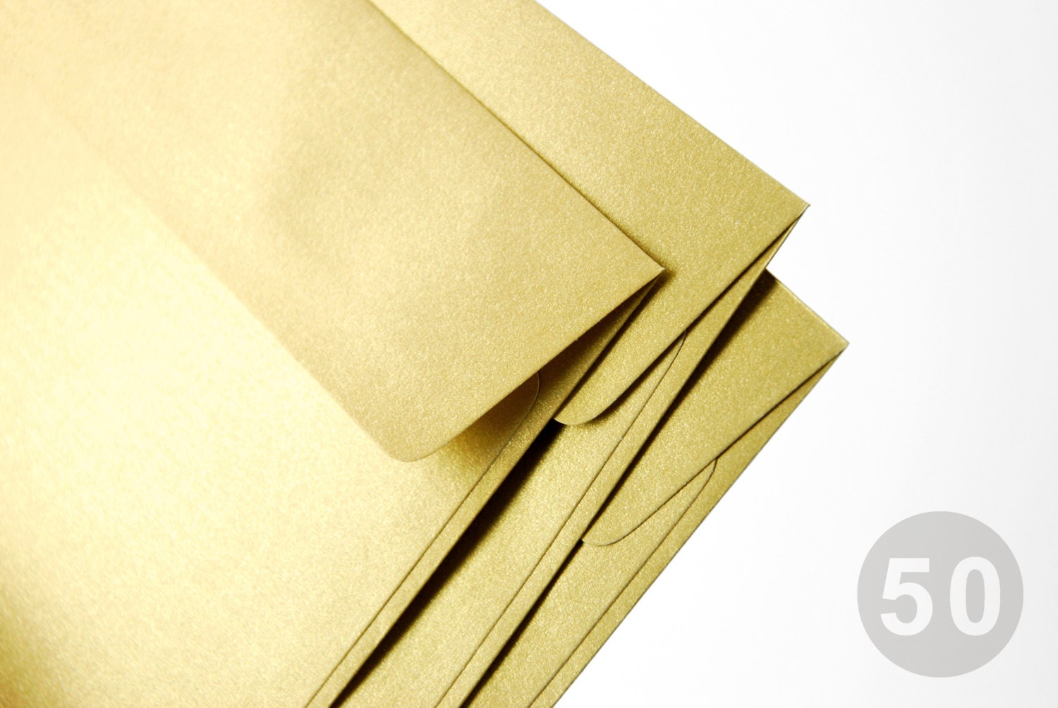 50 a7 5x7 gold envelopes perfect for 5x7