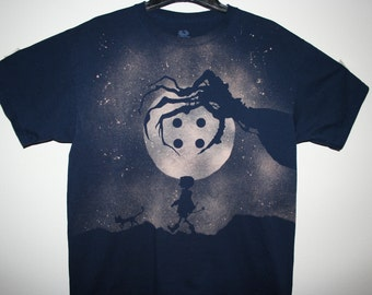 Coraline Inspired Hand-Bleached Shirt