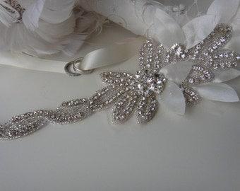 Bridal Belt, boho bridal sash, bridal sash, bridal sash belt, crystal bridal sash, beaded bridal belt, bridal belt sash, petal bridal sash