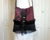 Gypsy Bag - Boho Fringe Bag - Boho Gypsy Fringe Purse - Cross Body Bag - Romantic Bag - Fringe Bag -  Ready to Ship