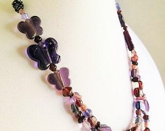 Purple Butterfly Mix Jewelry Set