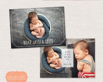 Birth Announcement Template - Minimal Frame CB029 - for Photographers PSD frame