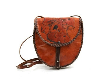 Tooled Leather Crossbody Bag 30