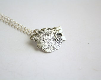 Mother of Wolves - handmade pendant - womans jewelry - wolf necklace - nickel free