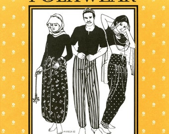 Folkwear #119 Sarouelles Pants from Turkey, Africa & India Sewing Pattern for Men and Women