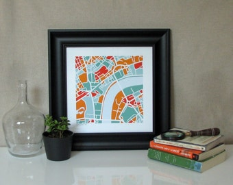 Central London UK Map Print