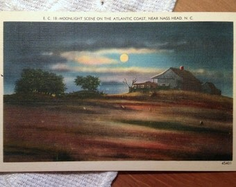 Vintage Postcard, Atlantic Coast, Nag's Head, North Carolina - 1940s Linen Paper Ephemera
