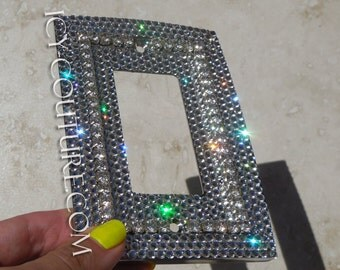 Single Large 3D Bling Light Switch Plate Cover with Swarovski Crystals