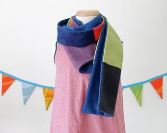 Wool Color Block Scarf