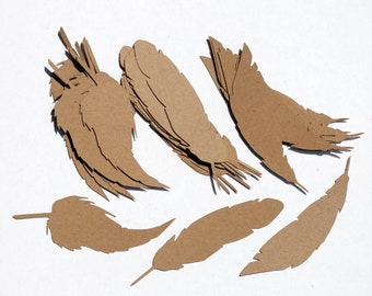 "3"" Feather Confetti/Die Cuts 50 Count"