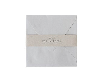 "Envelopes - 6-1/2"" Square Shimmer Silver"