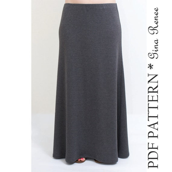 maxi skirt pattern womens maxi skirt sewing pattern