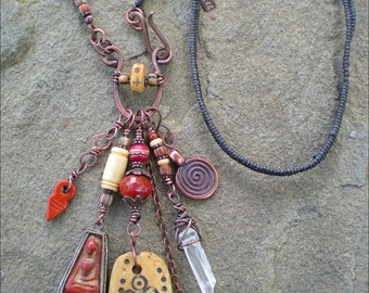 Moon Goddess Shaman Amulet Necklace