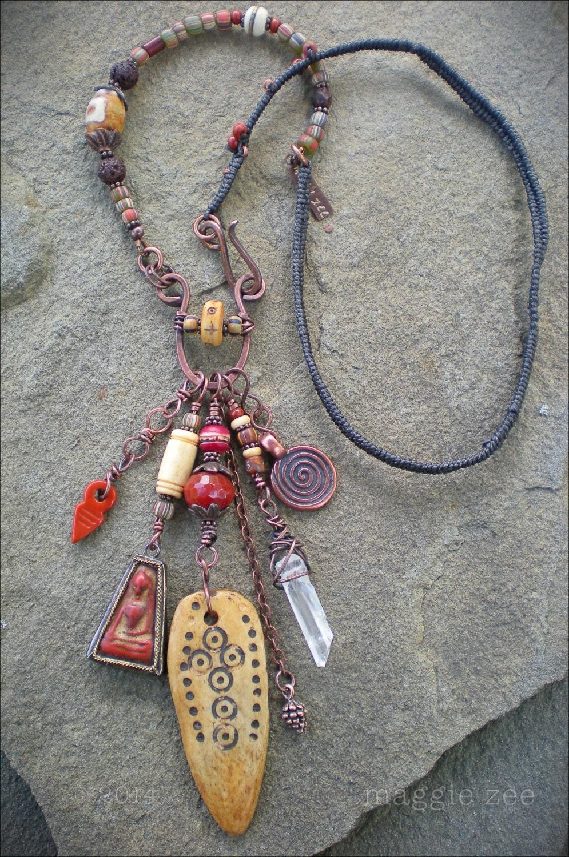 Amulet Jewelry Pendants Sothon: Moon Goddess Shaman Amulet Necklace