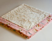Minky Blanket with Riley Blake cotton