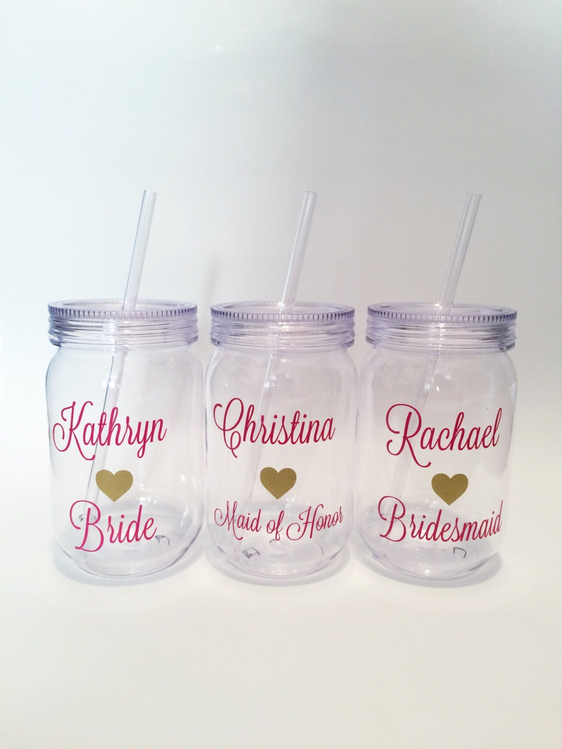 Wedding Party Tumblers Bridal Party Cups Customized Cups