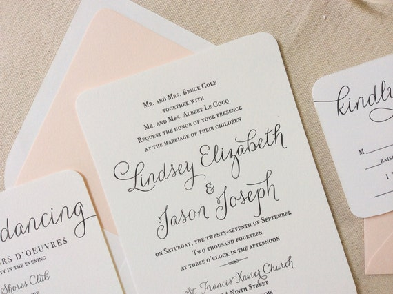 like this item - Wedding Invitation Calligraphy
