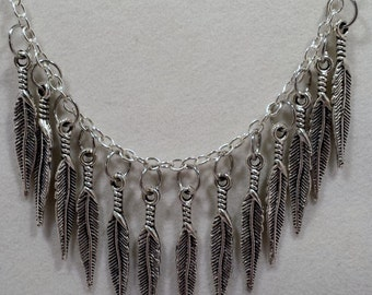 Feather Charms Necklace