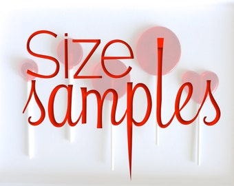 6 Size Sample Set- One of Each Size, Hard Candy Lollipops, Sample Set, Wedding Favors, The Original Sparkle Lollipops, Sparkle Lollipops