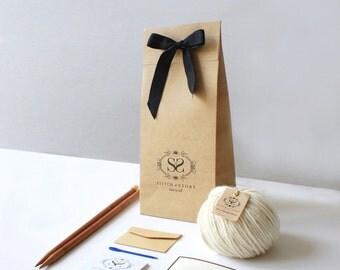 Lernen Sie, Knit - Luca Pom Hut Knitting Kit Easy +