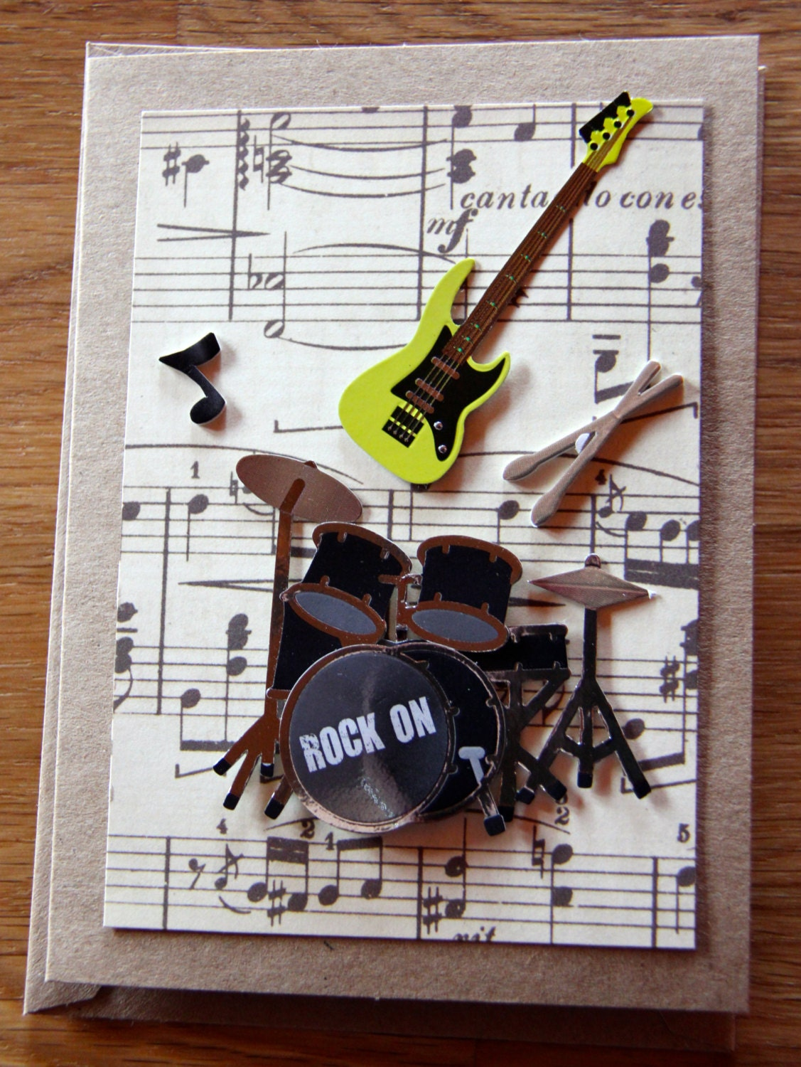 Guitar birthday card – Musical Cards for Birthday
