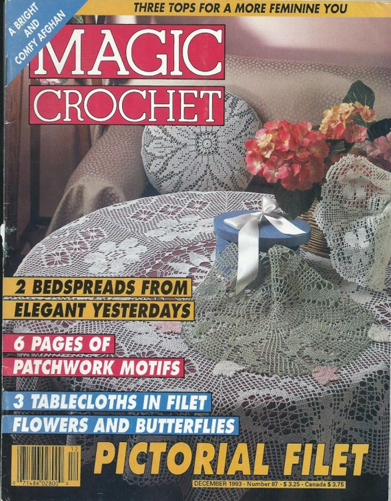 Vintage Magic Crochet Magazine Back Issue By