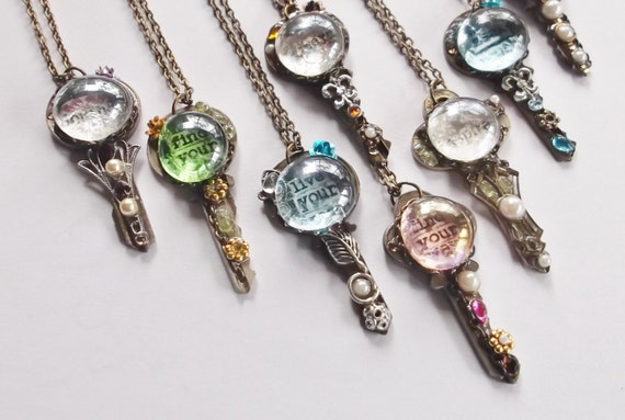 Items similar to repurposed vintage key necklaces altered for Art made with keys