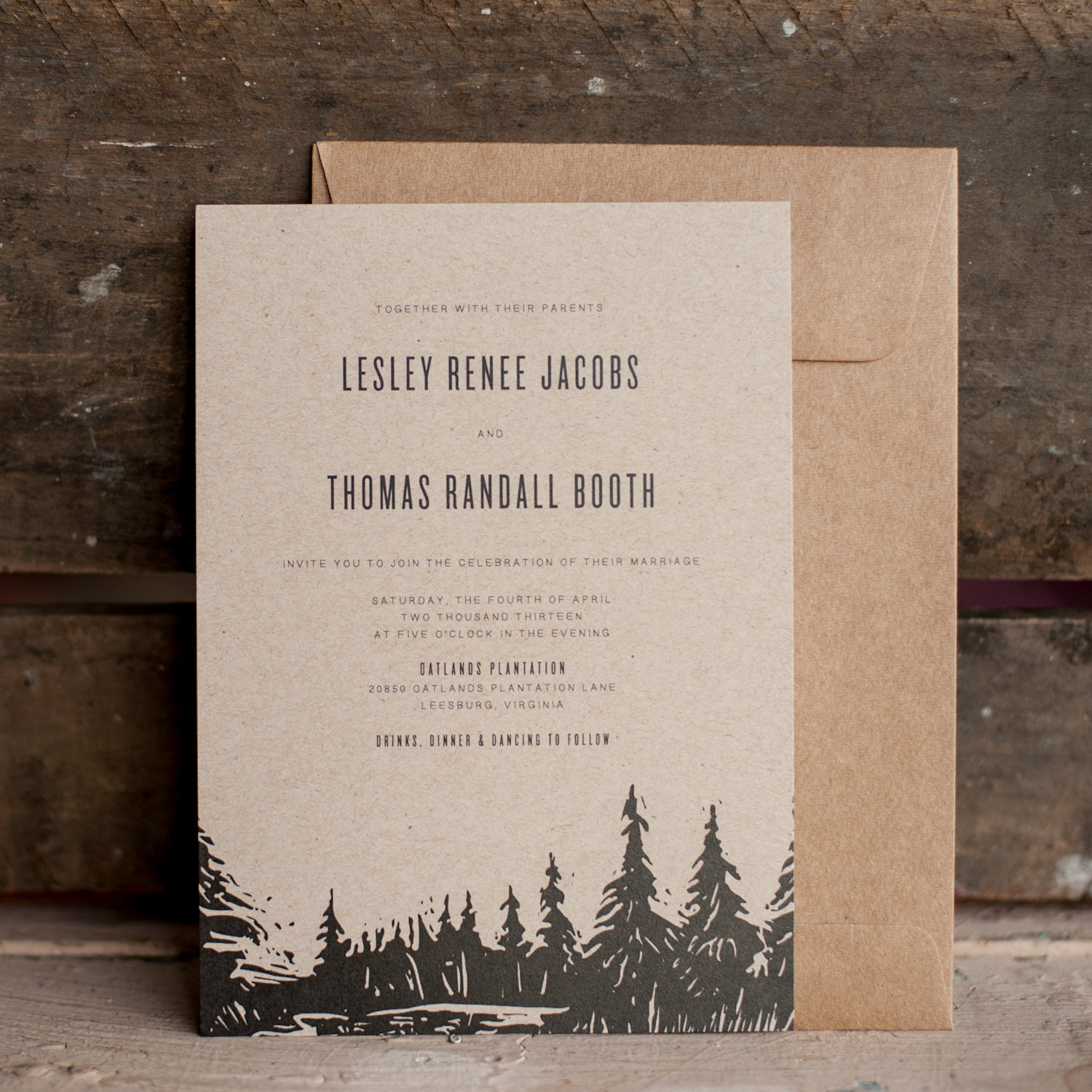 Tree Wedding Invitations: Rustic Wedding Invitation Tree Wedding Invitation Wedding