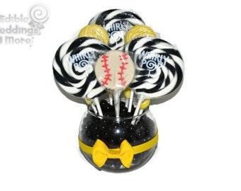 Small Baseball Lollipop Centerpiece, Sports Party, Centerpiece, Baseball Party, Team Party, Candy, Customizable, Baseball, Birthday Party