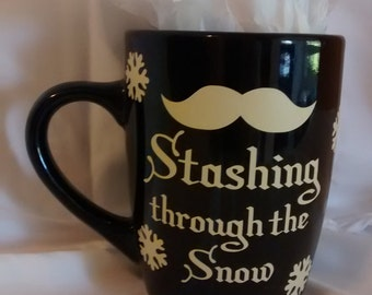 Stashing Through the Snow - Coffee Cup