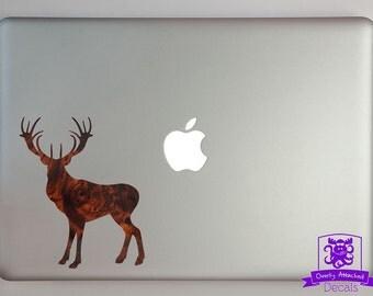 Standing Buck Deer Macbook Laptop Decal