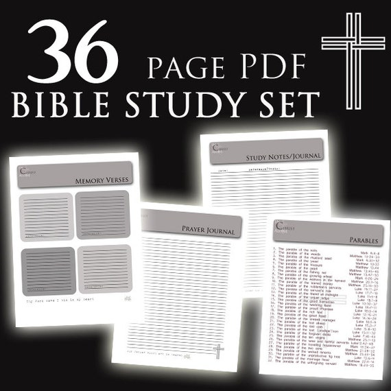 Bible Study Reference: BIBLE Study Set Custom Notes And Prayer Journal By MnJDesigns