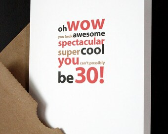 Turning 30 Birthday Cards Image collections Birthday Cake