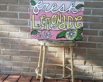Fresh Lemonade Wood Pallet Sign