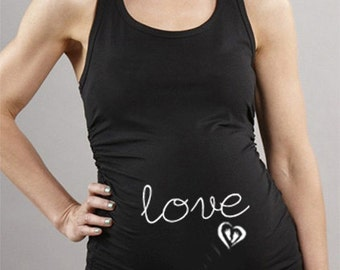 Maternity / Pregnancy Tank Top - Love