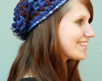 Lakeside Adult-Sized Crochet Slouchy Hat - Taking Orders