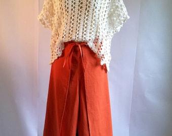 CLEARANCE SALE! Linen Wrap Around Pants S/M