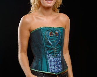 Beaded and Embroidered silk corset