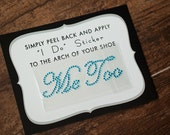 Me Too Shoe Stickers for Grooms Shoes, Wedding Decor, Groom Details, Something Blue | AQUA BLUE