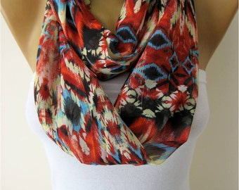 SALE ! 9,90 USD-Infinity Scarf Shawl Circle Scarf Loop Scarf ,Gift scarf -Fashion accessories- for her-  gift