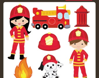 Fire truck clipart | Etsy