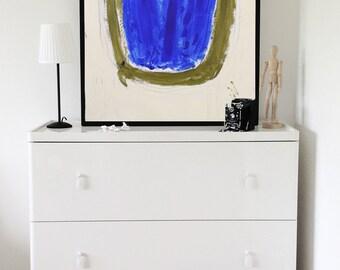 """Large Original Acrylic Painting, """"Ultramarine"""" 4, Abstract Painting, Acrylic Abstract, Abstract Wall Art, Oversized Art, Expressionism"""