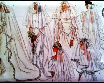 Butterick 4649  Misses' Bridal Veils  UNCUT
