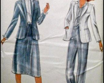 Butterick 3632  Misses' Jacket, Skirt and Pants  Size 16 UNCUT